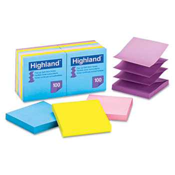 Highland™ Self-Stick Notes, 3 x 3, 100 Sheets