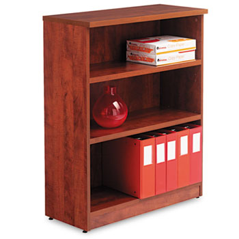 Alera® Alera Valencia Series Bookcase, Three-Shelf, 31 3/4w x 14d x 39 3/8h, Med Cherry