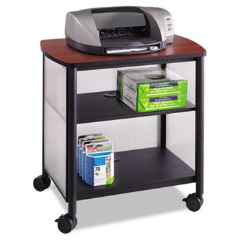 Safco® Impromptu Machine Stand, One-Shelf, 26-1/4w x 21d x 26-1/2h, Black/Cherry