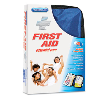 PhysiciansCare® by First Aid Only® Soft-Sided First Aid Kit for up to 10 People, 95 Pieces/Kit