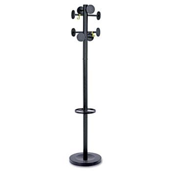 Alba™ Stan 3, 2 Hooks, 8 Pegs, Steel/Plastic, Black