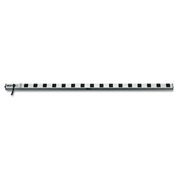 Power Strip, 16 Outlets, 1 1/2 x 48 x 1/2, 15 ft Cord, Silver