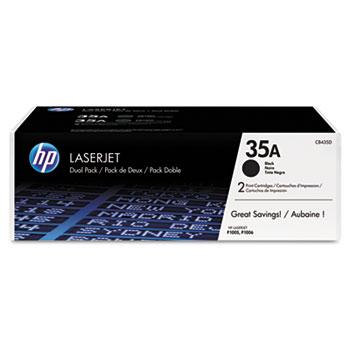 35A (CB435D) Toner Cartridges - Black (2 pack)