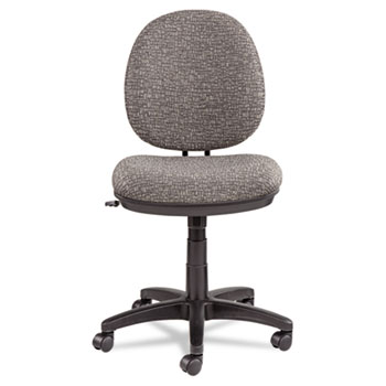 Alera® Alera Interval Series Swivel/Tilt Fabric Task Chair, Supports up to 275lbs, Graphite Gray Seat/Graphite Gray Back, Black Base