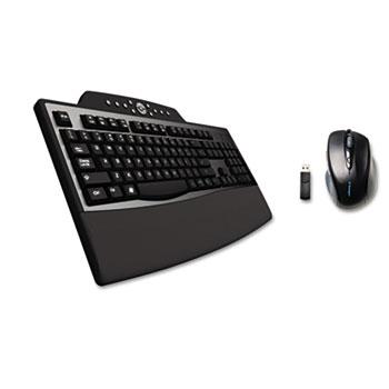 Kensington® Pro Fit Comfort Desktop Set, Wireless, Black