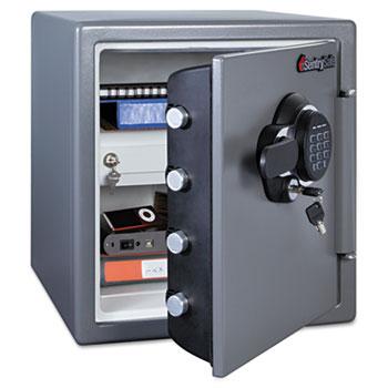 Sentry® Safe Electronic Fire Safe, 1.23 ft3, 16-3/8w x 19-3/8d x 17-7/8h, Gunmetal Gray