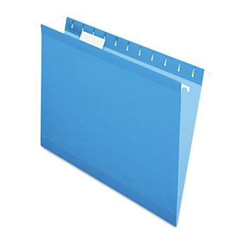 Pendaflex® Reinforced Hanging Folders, 1/5 Tab, Letter, Blue, 25/Box