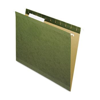 Pendaflex® Reinforced Hanging File Folders, 1/3 Tab, Letter, Standard Green, 25/Box