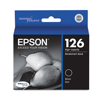 Epson® T126120 (126) DURABrite Ultra High-Yield Ink, Black