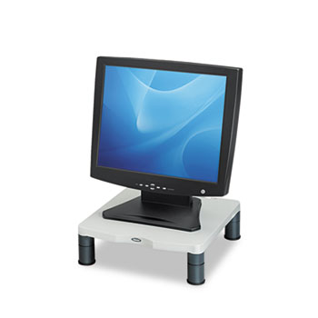 "Fellowes® Standard Monitor Riser, 13 1/8"" x 13 1/2"" x 2"", Platinum/Graphite"