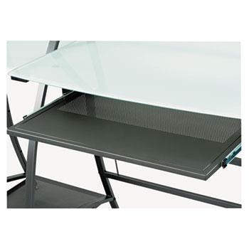 Safco® Xpressions Keyboard Tray, Steel, 23-1/2w x 15-1/4d, Black