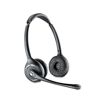 Plantronics® CS520 Binaural Over-the-Head Wireless Headset
