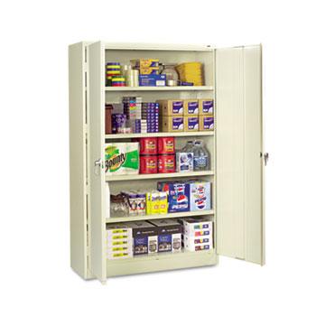 Assembled Jumbo Steel Storage Cabinet, 48w x 18d x 78h, Putty