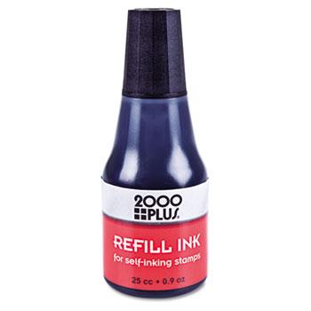 2000 PLUS Self-Inking Refill Ink, Black, 0.9 oz. Bottle