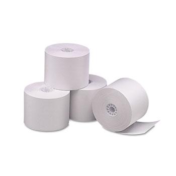 "Single Ply Thermal Cash Register/POS Rolls, 2 1/4"" x 165 ft., White, 6/Pk"