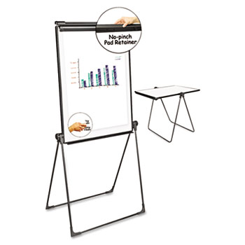 Universal Foldable Double-Sided Dry Erase Easel, Two Configurations, White Board: 29 x 41