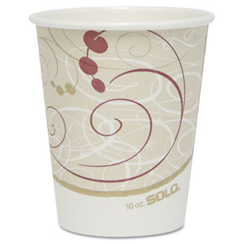 SOLO® Cup Company Hot Cups, Symphony Design, 10oz, 50/Pack
