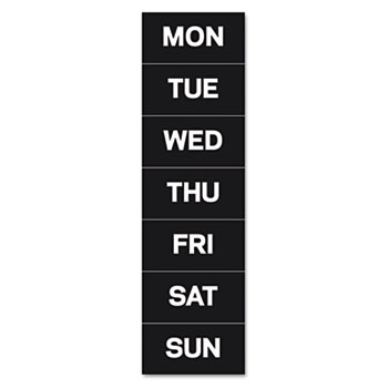 "MasterVision® Calendar Magnetic Tape, Days Of The Week, Black/White, 2"" x 1"""