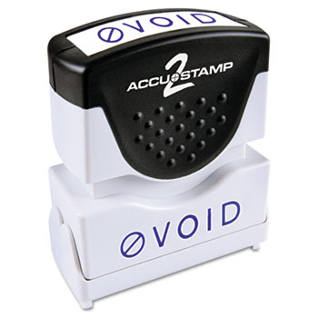 ACCUSTAMP2® Pre-Inked Shutter Stamp with Microban, Blue, VOID, 1 5/8 x 1/2