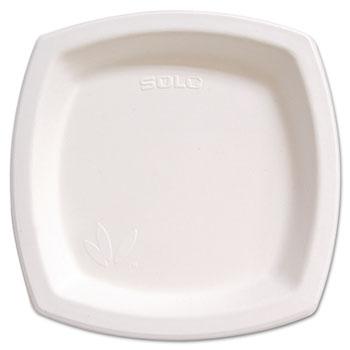 "SOLO® Cup Company Bare Eco-Forward Sugarcane Dinnerware Perfect Pak, 8 3/10"" Plate, Ivory, 125/Pk"