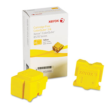 Xerox® 108R00928 Solid Ink Stick, 4400 Page Yield, Yellow, 2/Box