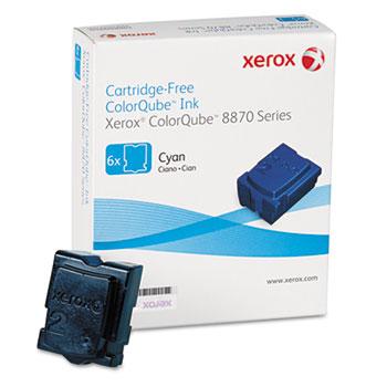 Xerox® 108R00950 Solid Ink Stick, 17,300 Page-Yield, Cyan, 6/Box