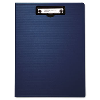 "Baumgartens® Portfolio Clipboard With Low-Profile Clip, 1/2"" Capacity, 8 1/2 x 11, Blue"