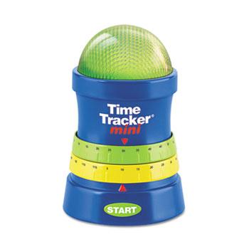 Time Tracker Mini Timer, 3 1/4w x 3 1/4d x 4 3/4h, Blue/Red/Yellow/Green