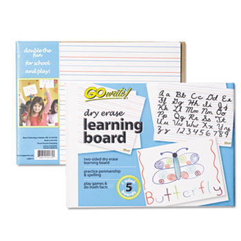 Pacon® Dry Erase Learning Boards, 8 1/4 x 11, 5 Boards/PK
