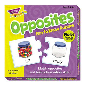 TREND® Fun to Know Puzzles, Opposites