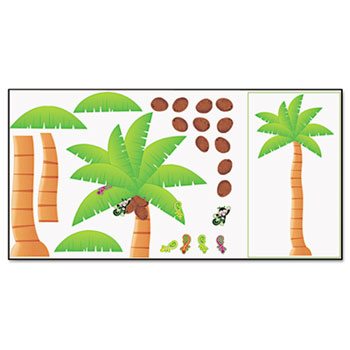TREND® Palm Tree Bulletin Board Set, 46w x 72h