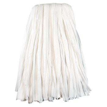 Boardwalk® Nonwoven Cut End Edge Mop, Rayon/Polyester, #24, White, 12/Carton