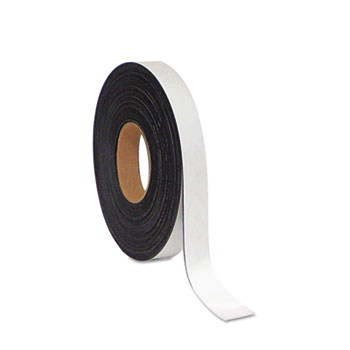 """MasterVision® Dry Erase Magnetic Tape Roll, White, 1"""" x 50 Ft."""