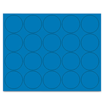 """MasterVision® Interchangeable Magnetic Characters, Circles, Blue, 3/4"""" Dia., 20/Pack"""