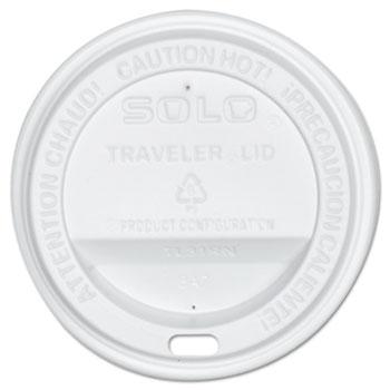Traveler Drink-Thru Lid, White, 300/Carton