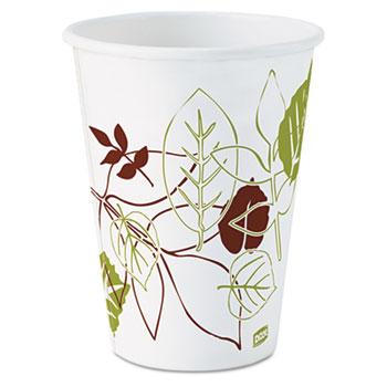 Hot Cups, Paper, 12oz (Fits Large Lids), 50/Pack, 20 Packs/CT