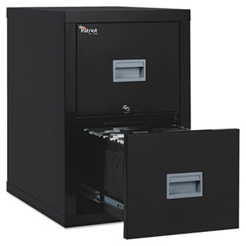 FireKing® Patriot Insulated Two-Drawer Fire File, 17-3/4w x 25d x 27-3/4h, Black