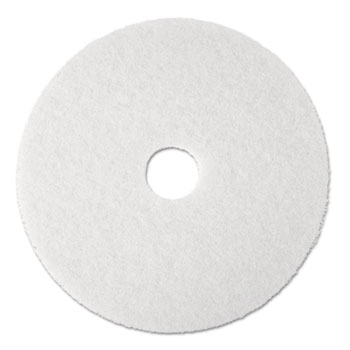 "3M™ Super Polish Floor Pad 4100, 20"", White, 5/Carton"