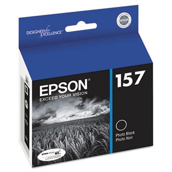 Epson® T157120 (157) UltraChrome K3 Ink, Photo Black