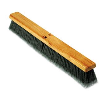 "Boardwalk® Floor Brush Head, 3"" Gray Flagged Polypropylene, 24"""