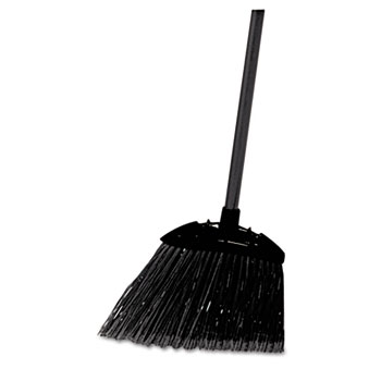 "Rubbermaid® Commercial Lobby Pro Broom, Poly Bristles, 35"" Metal Handle, Black"