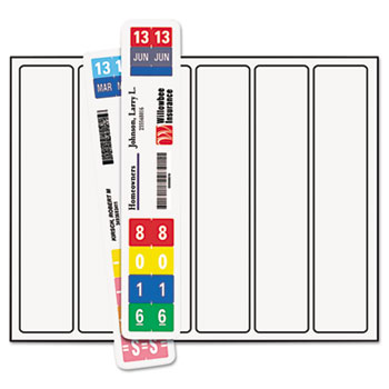 Smead® ColorBar WaterGuard 6-Up Inkjet Labels, 8w x 1-1/2h, White, 1008/Pack