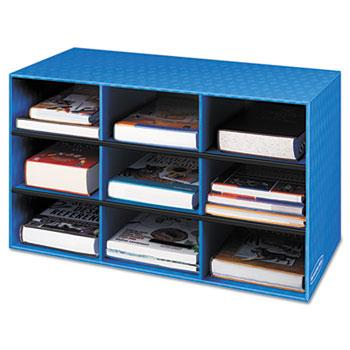 Bankers Box® Classroom Literature Sorter, 9 Compartments, 28 1/4 x 13 x 16, Blue