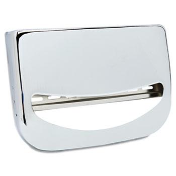 Toilet Seat Cover Dispenser, 16 x 3 x 11 1/2, Chrome