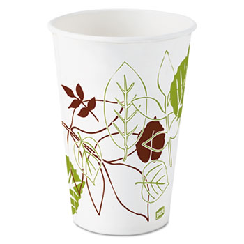 Pathways Polycoated Paper Cold Cups, 16oz, 1200/Carton