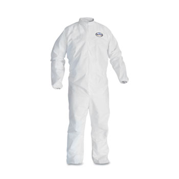 KLEENGUARD A30 Elastic-Back & Cuff Coveralls, White, 2X-Large, 25/CT