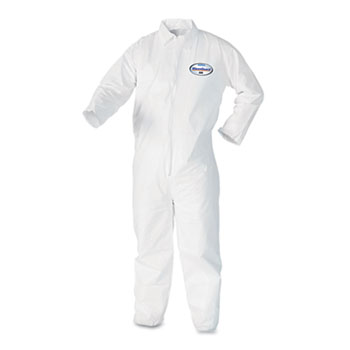 KleenGuard™ A40 Coveralls, White, Large, 25/Case