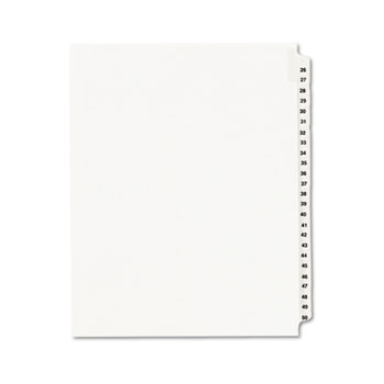 Avery® Standard Collated Legal Dividers Style, Letter Size, Avery-Style, Side Tab Dividers, 26-50 Tab Set