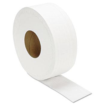 "JRT Jumbo Bath Tissue, Septic Safe, 2-Ply, White, 3.3"" x 1000 ft, 12/Carton"