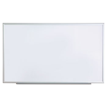 Universal Dry Erase Board, Melamine, 60 x 36, Satin-Finished Aluminum Frame